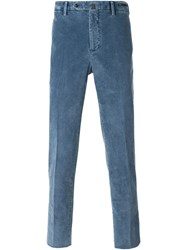 Pt01 Washed Corduroy Trousers Blue