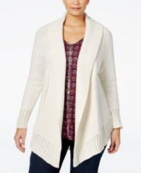 Styleandco. Style Co. Plus Size Shawl Collar Cardigan Only At Macy's Warm Ivory
