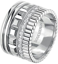 Boucheron Quatre Radiant Edition 18Ct White Gold And Diamond Ring