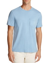 Billy Reid Washed Cotton Pocket Tee Sky Blue
