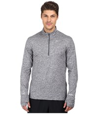 Nike Dri Fit Element Half Zip Pullover Dark Grey Heather Reflective Silver Men's Long Sleeve Pullover Gray