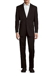 Tommy Hilfiger Modern Fit Solid Wool Suit Black