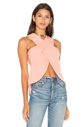 Lavish Alice Wrap Over Top Coral