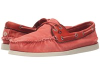 Sperry A O 2 Eye Wedge Canvas Red Men's Lace Up Casual Shoes