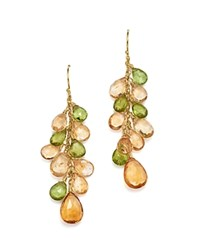 Bloomingdale's Citrine And Peridot Drop Earrings In 14K Yellow Gold Yellow Green