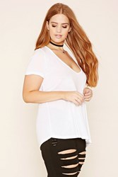Forever 21 Plus Size Scoop Neck Tee