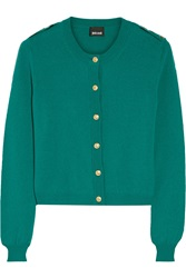 Just Cavalli Embellished Wool Cardigan Green