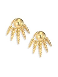 Nikos Koulis Spectrum 18K Yellow Gold Ear Jacket And Stud Earrings Set