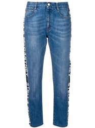 Stella Mccartney Logo Tape Jeans Blue