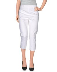 Red Valentino Redvalentino Trousers 3 4 Length Trousers Women White