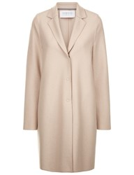 Harris Wharf London Light Cream Wool Cocoon Coat Nude