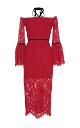 Alexis Odette Halter Lace Dress Red
