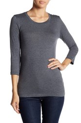 Susina 3 4 Length Sleeve Tee Petite Gray