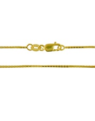 Lord And Taylor 14K Yellow Gold Box Chain 18 In.