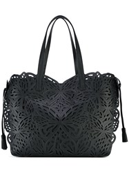 Sophia Webster Embroidered Tote Women Calf Leather One Size Black