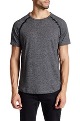 Kenneth Cole Short Sleeve Seam Seal Crewneck Shirt Gray
