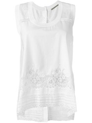 Ermanno Scervino Lace Inserts Tank Top White
