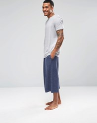 Asos Loungewear Wide Leg Joggers In Navy Navy