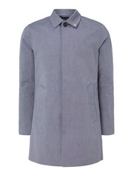 Peter Werth Twyford Button Raincoat Blue