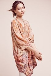 Anthropologie Tie Dyed Wool Tunic Pink