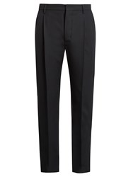 Christophe Lemaire Straight Leg Wool Trousers Dark Navy