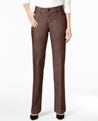 Lee Platinum Madelyn Straight Leg Trousers Deep Chocolate