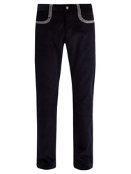 Missoni Straight Leg Cotton Corduroy Trousers Navy