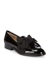 Botkier Violet Patent Leather Bow Loafers Black