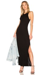 Cotton Citizen Melbourne Tank Midi Dress With Slit Black