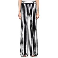 Martin Grant Striped Cotton Wide Leg Pants Navy White Navy White