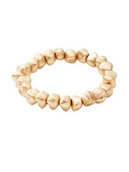 Design Lab Lord And Taylor Textured Nugget Bracelet Gold