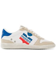 Isabel Marant Colour Block Logo Sneakers White