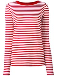 Dolce And Gabbana Striped Top Women Cotton 38 Red