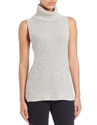 French Connection Sleeveless Knit Turtleneck Top Grey