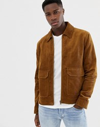 Jack Wills Maxfield Cord Coach Jacket In Camel Tan