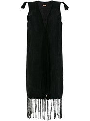 Caravana Jute Sleeveless Tassel Dress Cotton Black