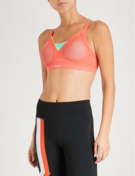 Shock Absorber Active Shaped Support Stretch Jersey Sports Bra Coral Breeze