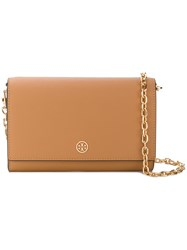 Tory Burch Chain Strap Mini Shoulder Bag Nude And Neutrals