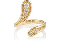 Fernando Jorge Women's Fluid Diamonds Long Open Ring Gold