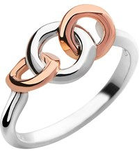 Links Of London 20 20 Sterling Silver And 18Ct Rose Gold Plated Ring Mixed Metal