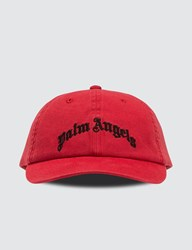 Palm Angels Arch Logo Cap Red