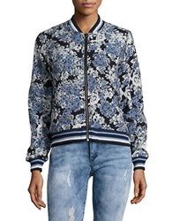 Blank Nyc Floral And Faux Leather Reversible Bomber Jacket Most Wanted
