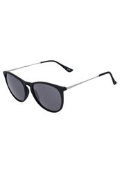 Kiomi Sunglasses Rubberized Black Silver Smoke