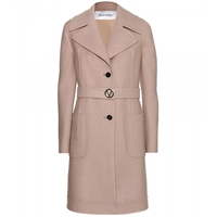Valentino Wool Coat Camel