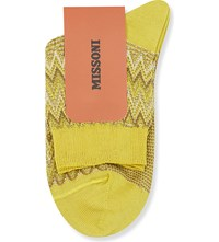 Missoni Zigzag Short Ankle Socks Yellow 003