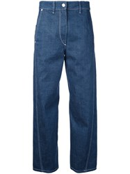 Christophe Lemaire Twisted Jeans Women Cotton 36 Blue