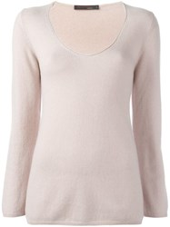 Incentive Cashmere V Neck Jumper Pink Purple