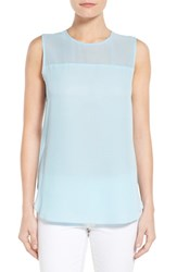Women's Vince Camuto Chiffon Yoke Sleeveless Blouse Star Blue