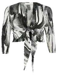 Windsmoor Palmetto Print Shrug Multi Black