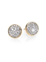 Plev Ice Diamond And 18K Yellow Gold Stud Earrings